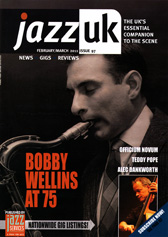 Bobby Wellins on the cover of Jazz Uk Magazine - Feb 2011
